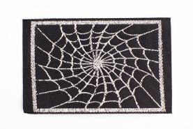 Silver Spider Web Patch
